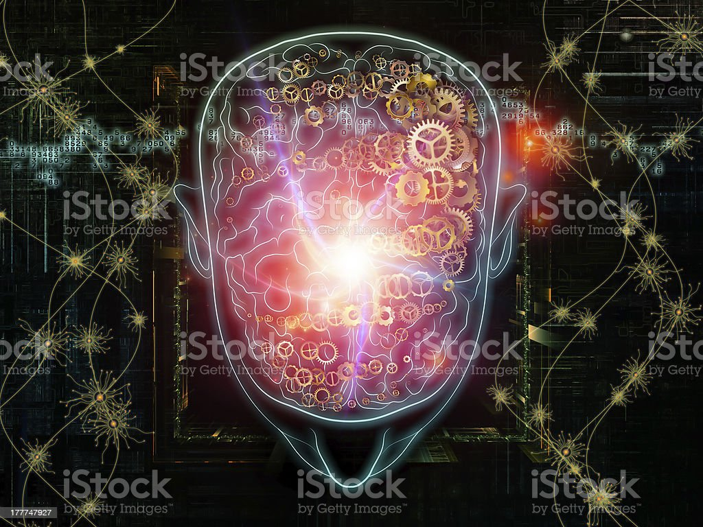 Brain Pathways royalty-free stock vector art