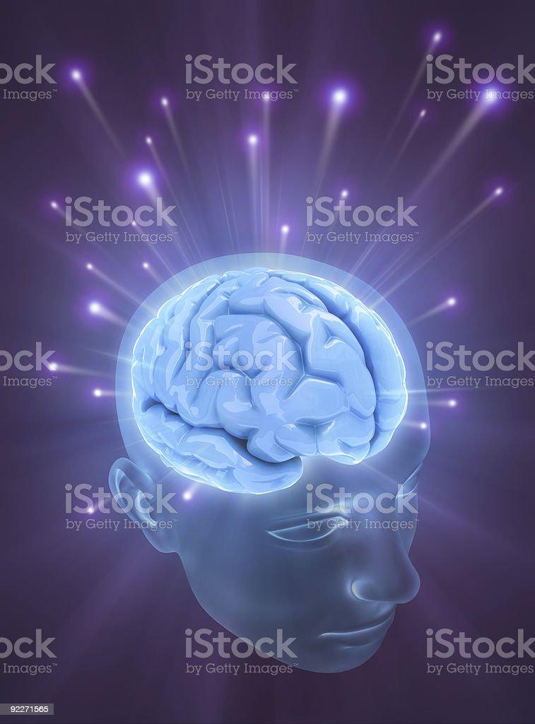 Brain (Balls Of Energy) royalty-free stock photo