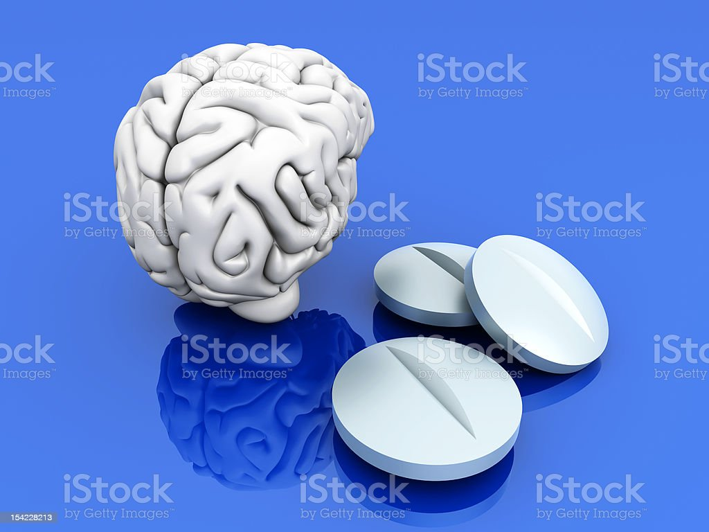Brain Pills stock photo