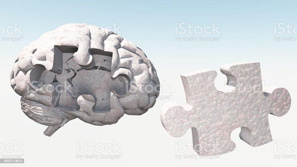 Brain Puzzle stock photo