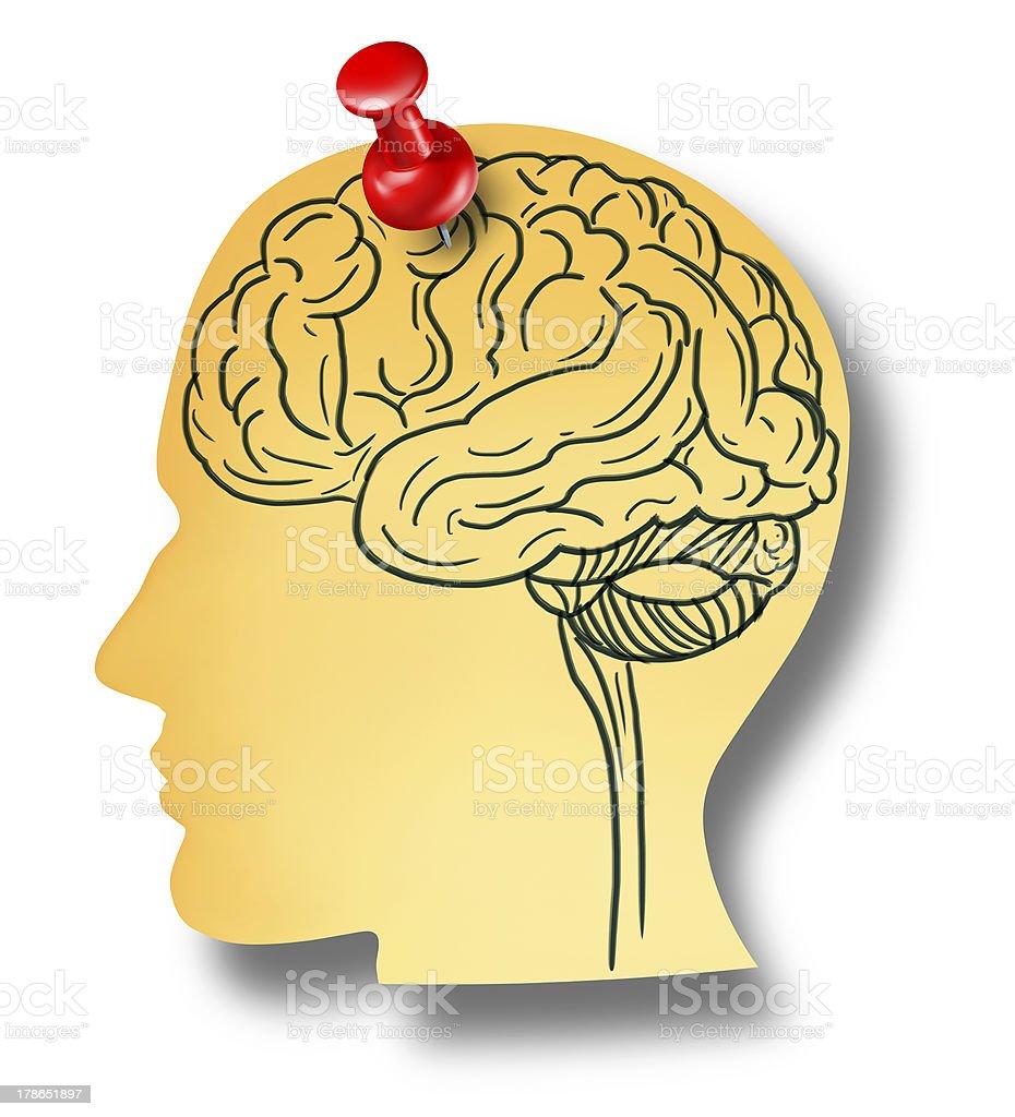 Brain Reminder royalty-free stock photo