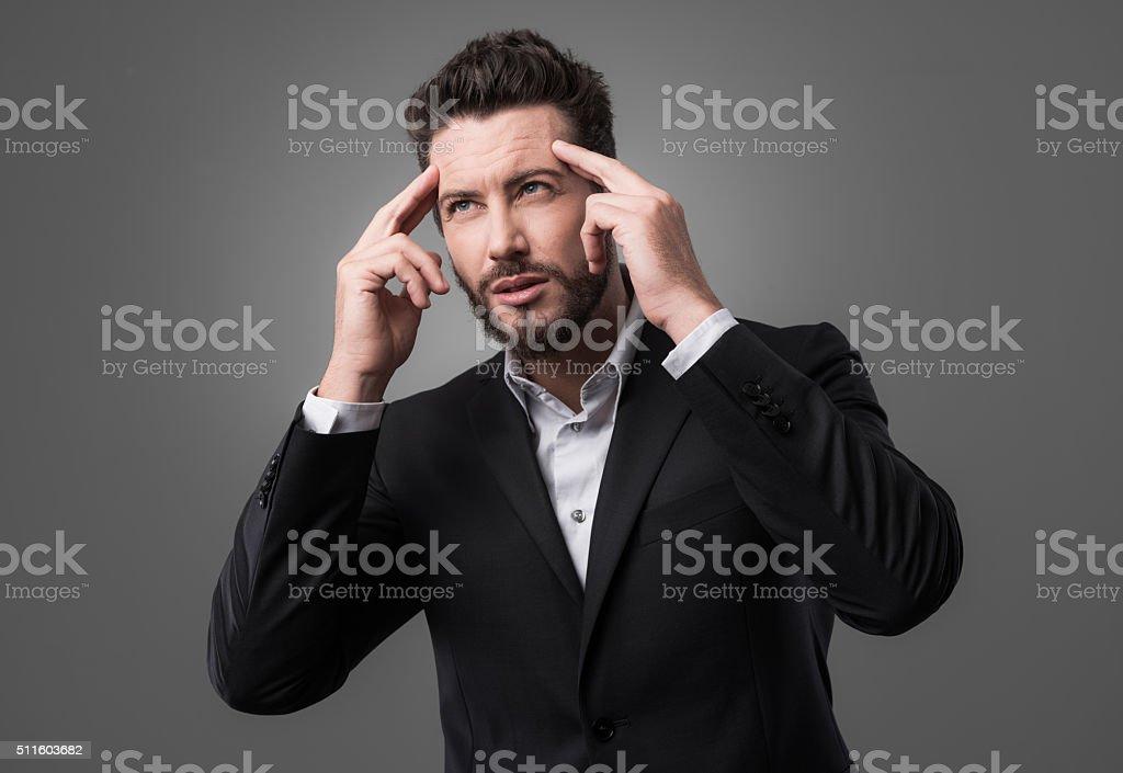 Brainpower concept stock photo