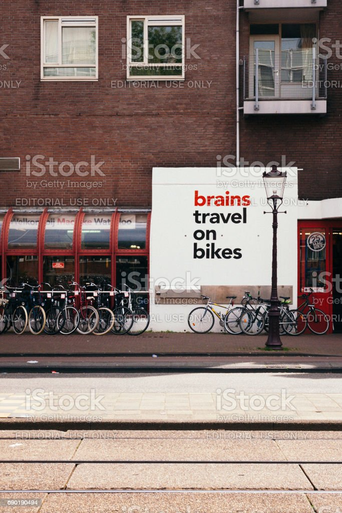 Brains Travel on Bikes stock photo