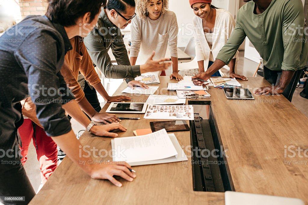 Brainstorm moment stock photo