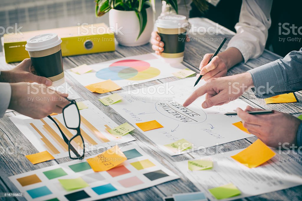 Brainstorming Brainstorm Business People Design Concepts stock photo