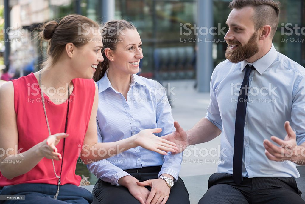 Brainstorming for create good business plan stock photo