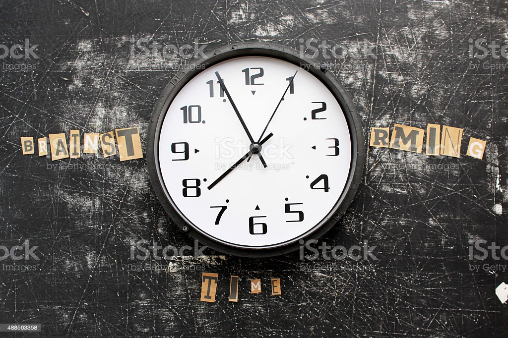 Brainstorming hour - it is time for business concept stock photo