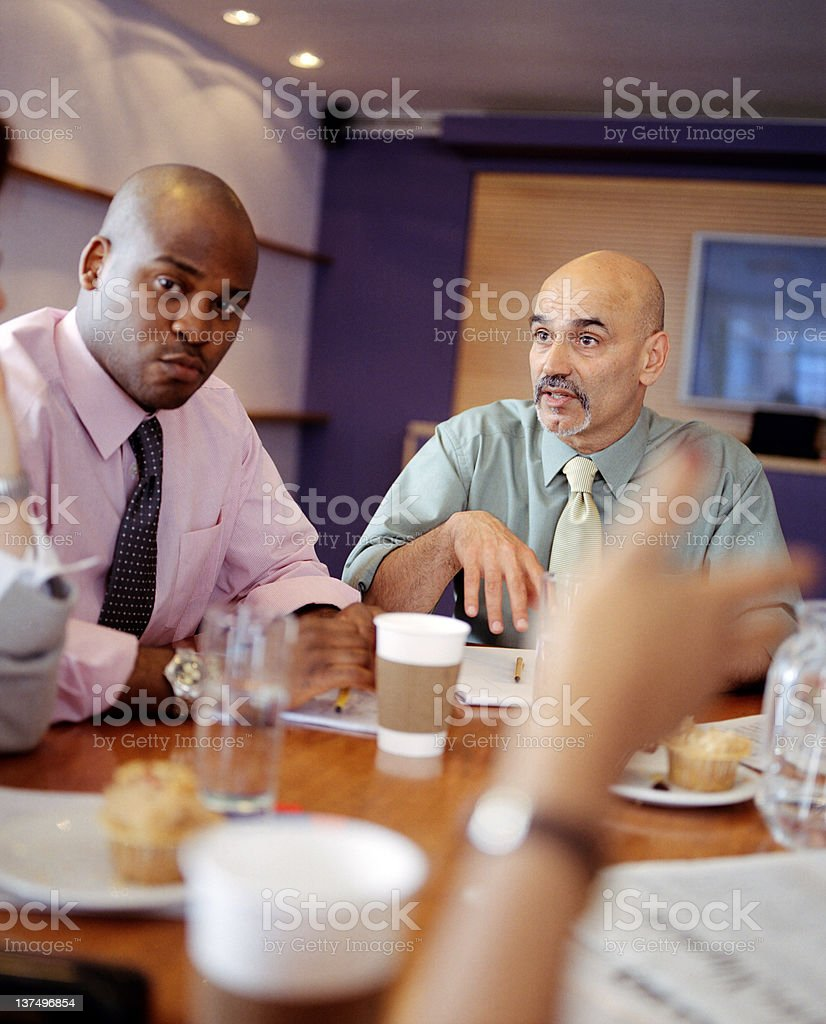 Brainstorming in the meeting royalty-free stock photo
