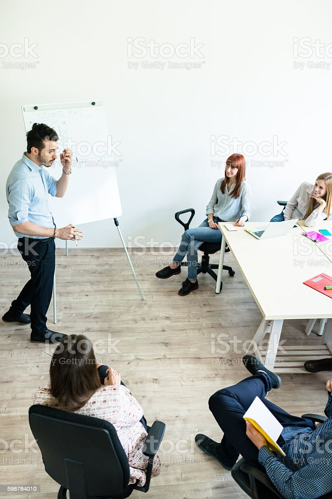 brainstorming in the office stock photo