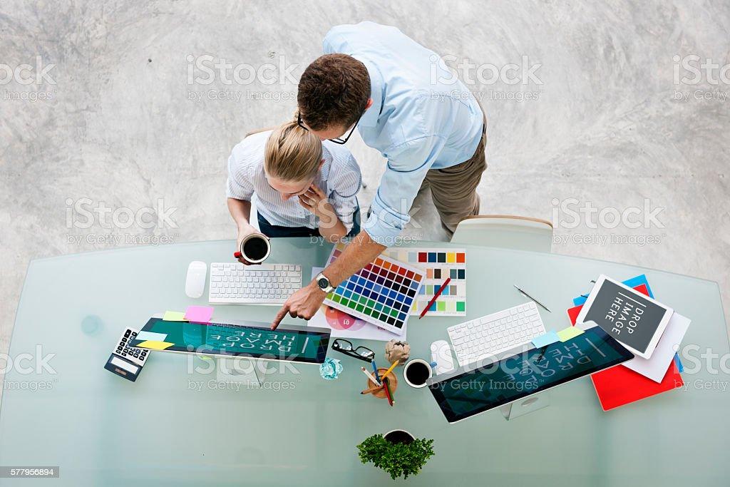 Brainstorming Planning Partnership Strategy Adminstratation Conc stock photo