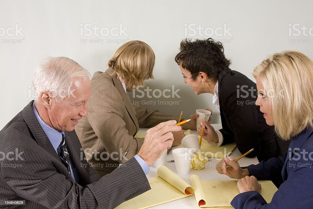 Brainstorming session. royalty-free stock photo
