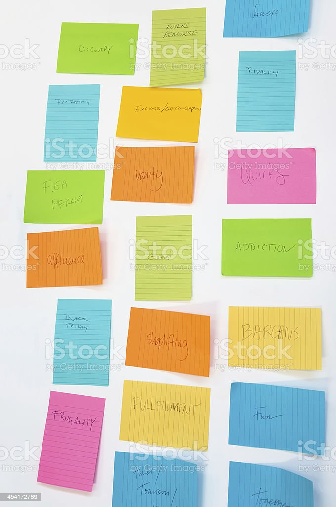 Brainstorming Session - Shopping Issues royalty-free stock photo