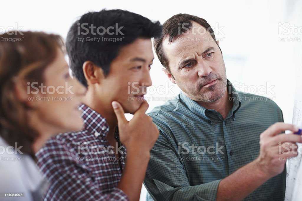 Brainstorming some solutions royalty-free stock photo