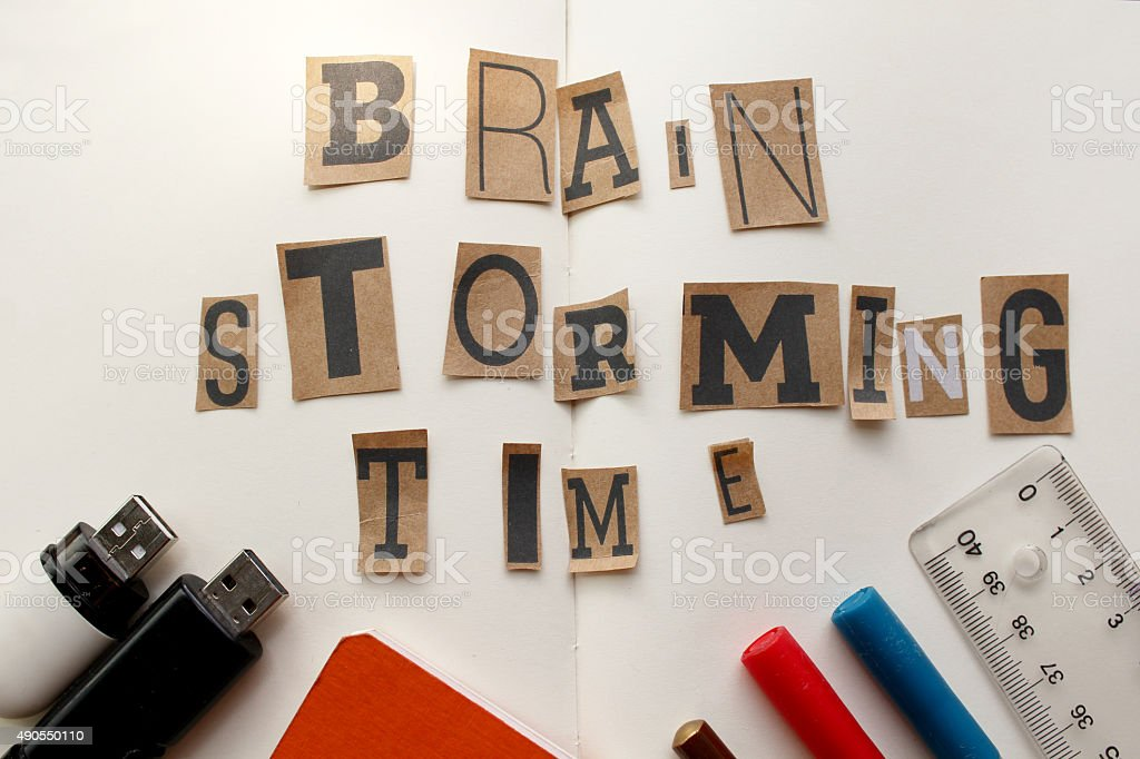 Brainstorming time concept stock photo