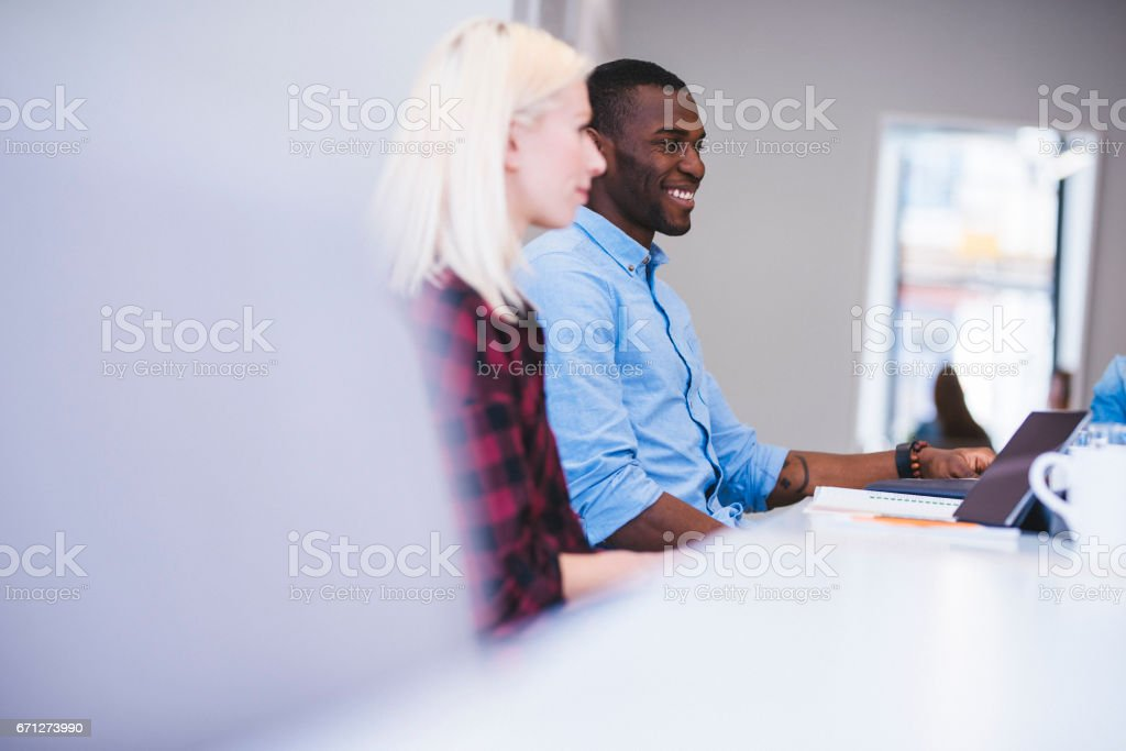 Brainstorming to be the best stock photo