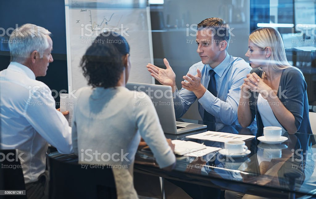 Brainstorming together stock photo