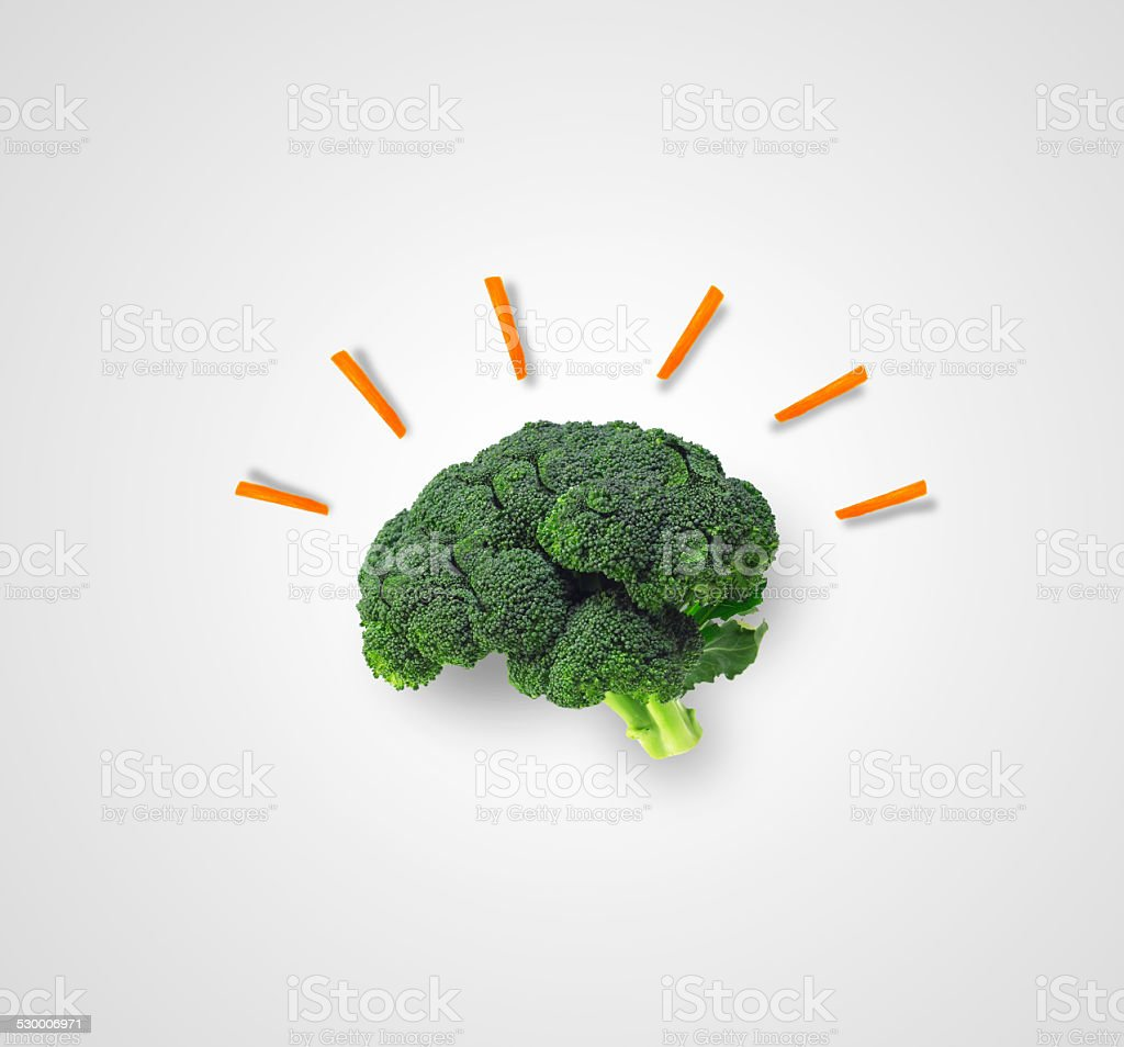 Brainy Sparks on plate stock photo