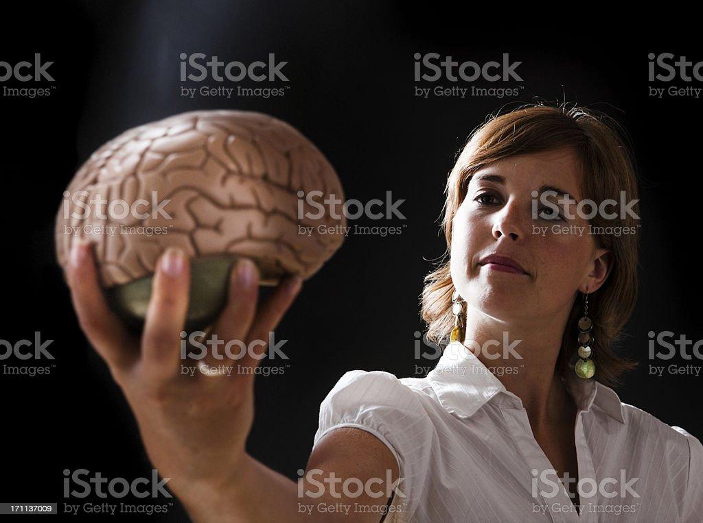 Brainy woman stock photo