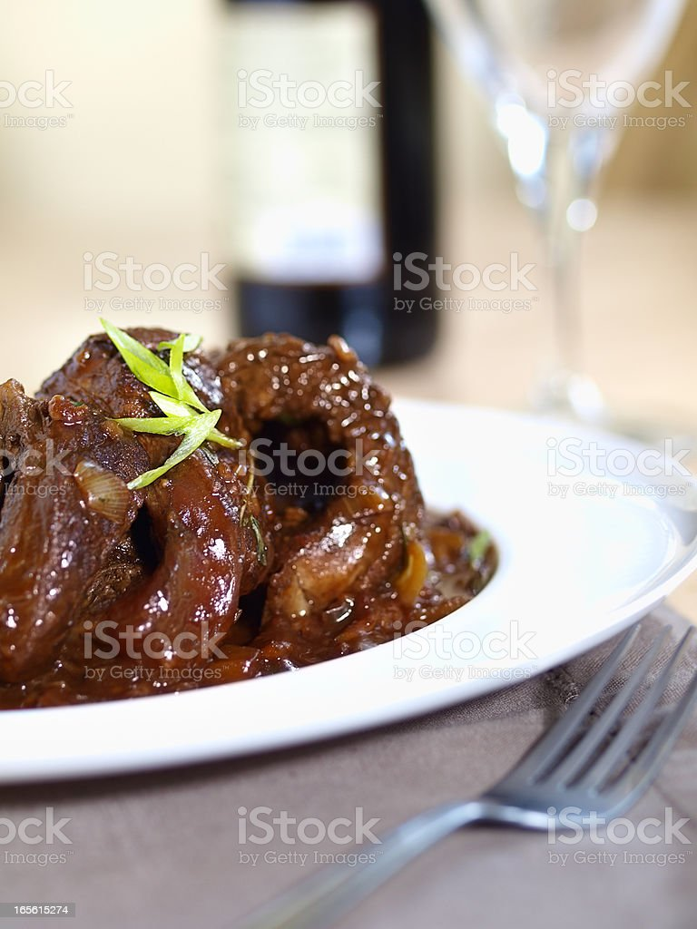 braised beef stock photo