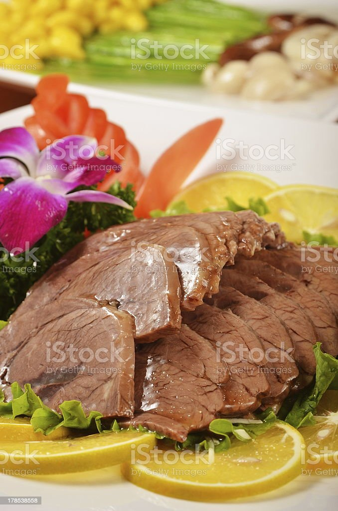 braised beef shank royalty-free stock photo