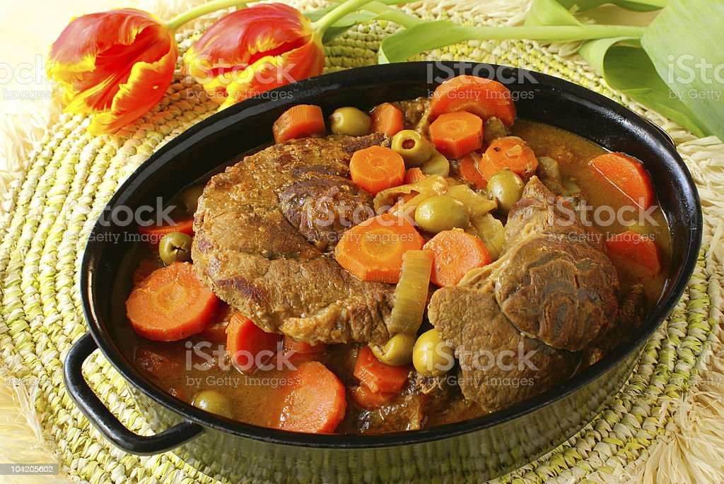 Braised beef shin royalty-free stock photo
