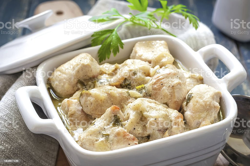 Braised chicken royalty-free stock photo