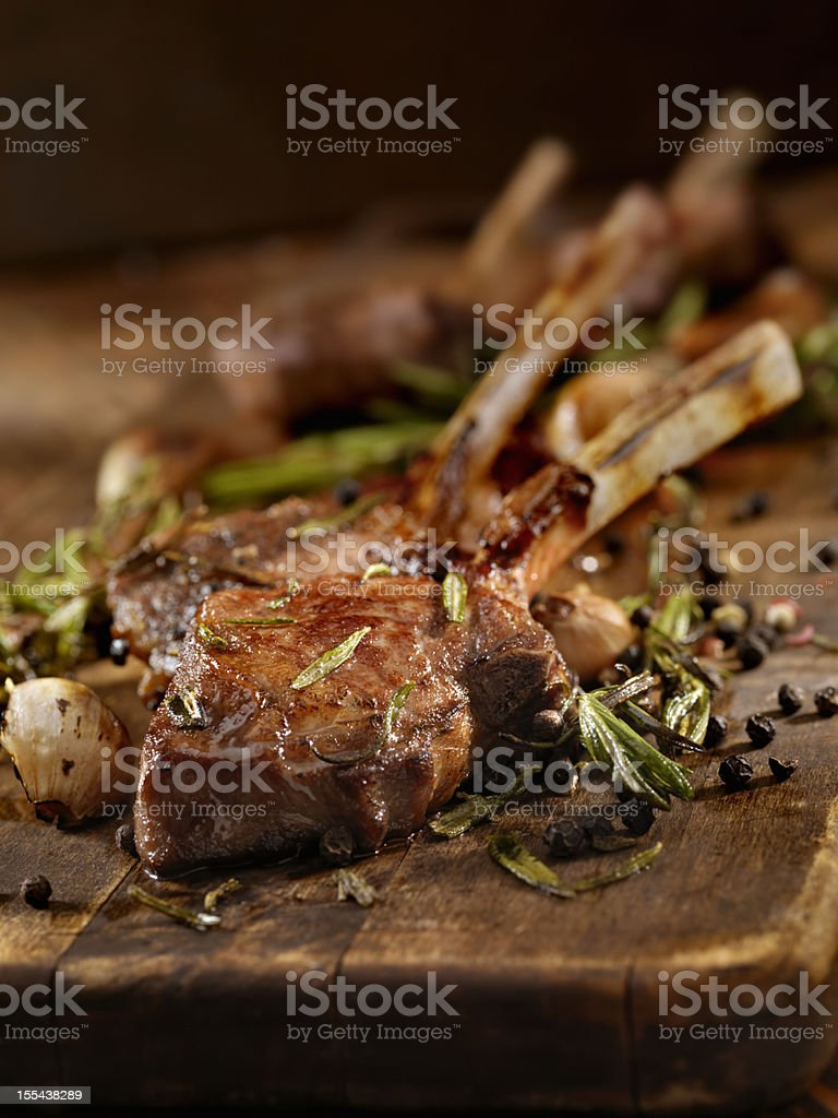 Braised Lamb Chops stock photo