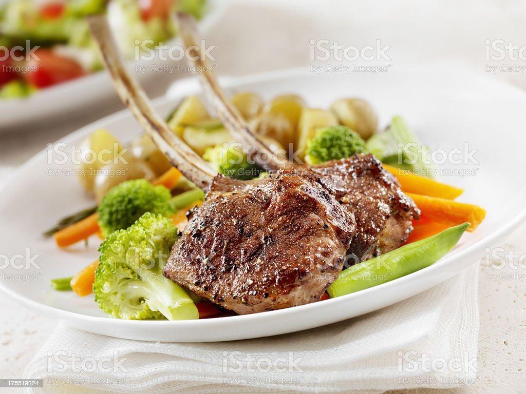 Braised Lamb Chops royalty-free stock photo