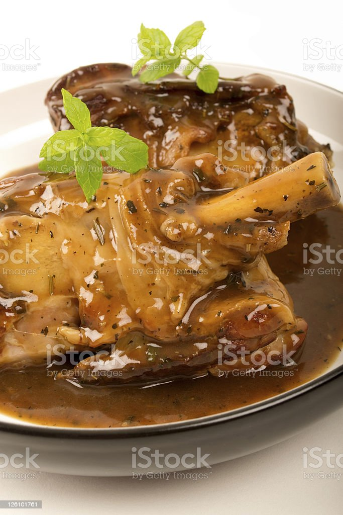 Braised Lamb Shank in Gravy royalty-free stock photo