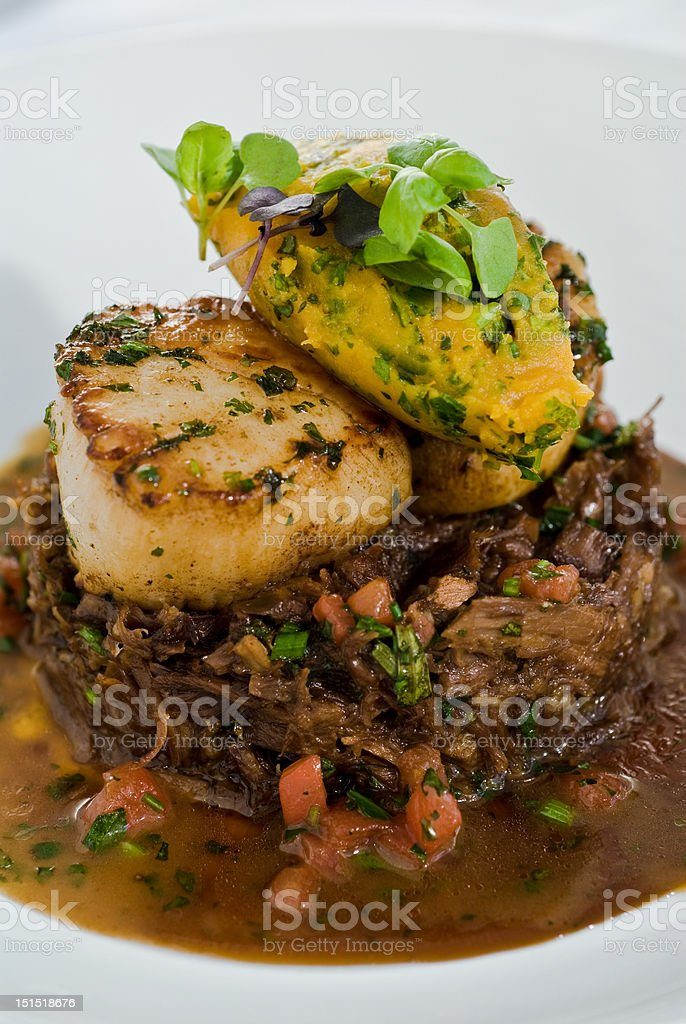 braised oxtail stock photo