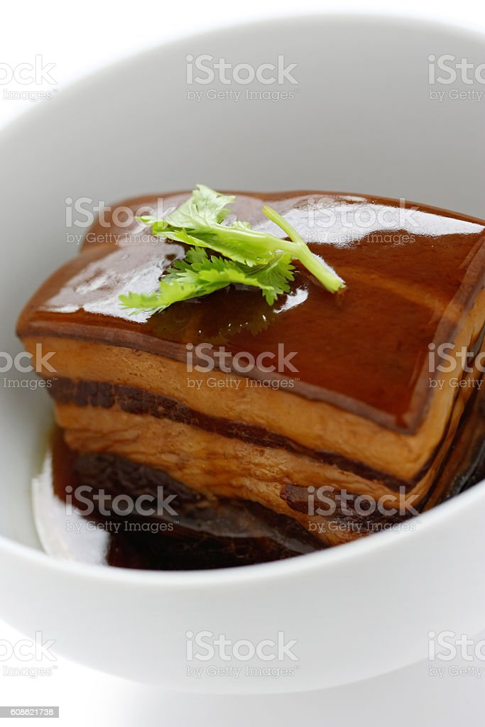 braised pork belly, dongpo pork,chinese cuisine stock photo