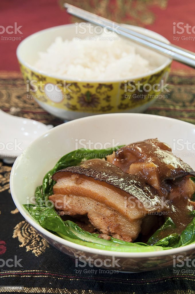Braised pork belly royalty-free stock photo