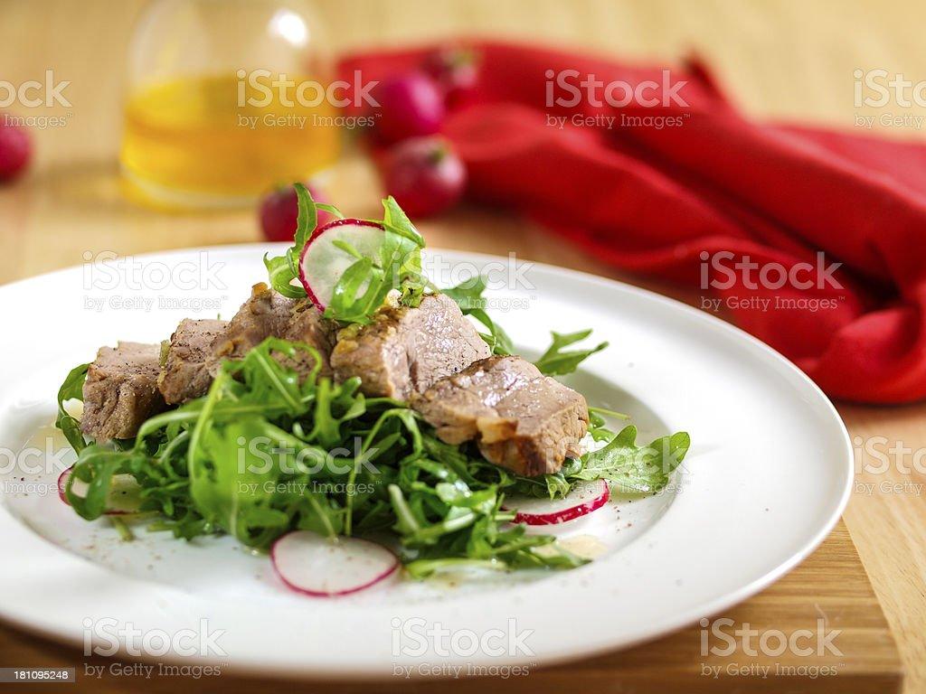 Braised pork fillet royalty-free stock photo