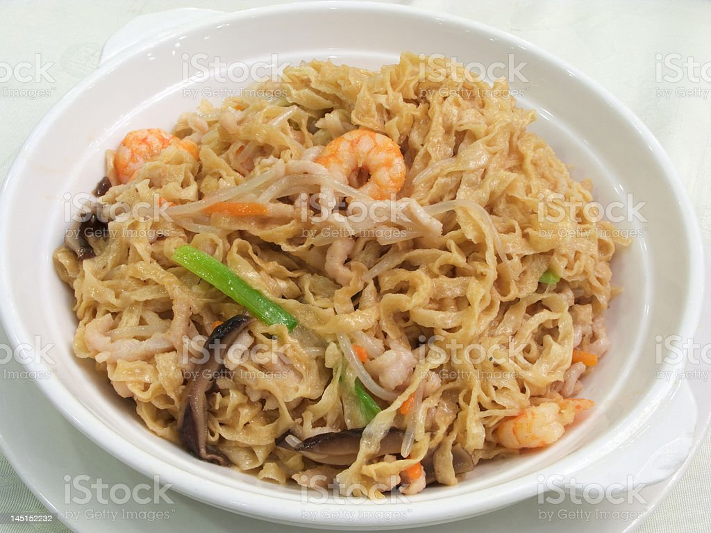 Braised Southern Chinese Chiuchow style noodles royalty-free stock photo