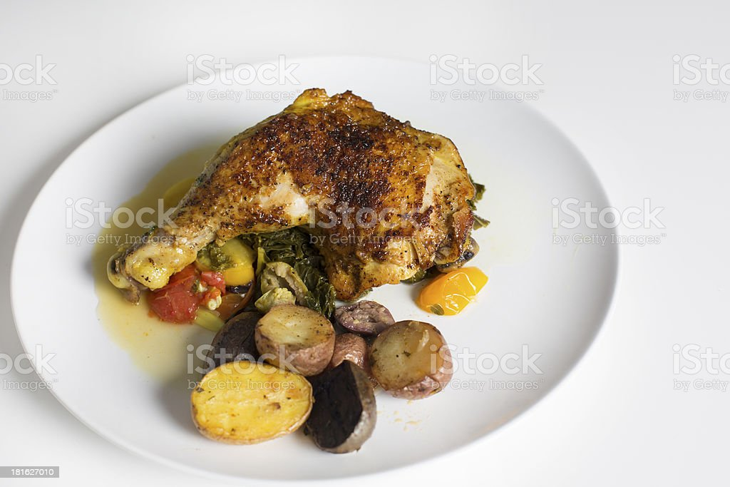 Braised whole chicken thigh royalty-free stock photo