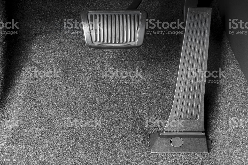 Brake and Gas Pedal stock photo