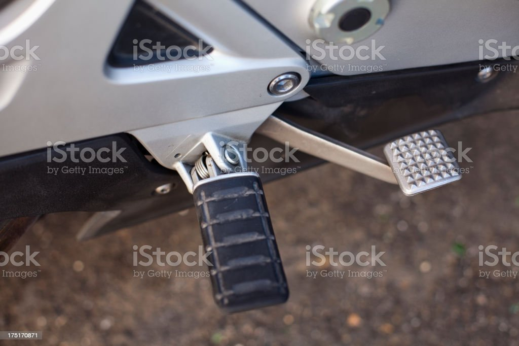 Brake and Pedal royalty-free stock photo