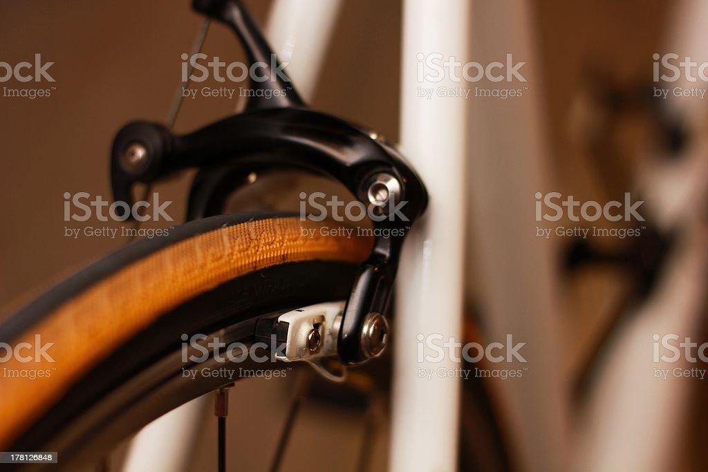 Bremse Schieblehre auf der Straße Radfahren Lizenzfreies stock-foto