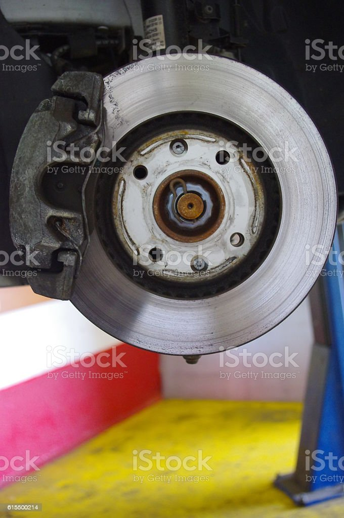 brake disc car stock photo