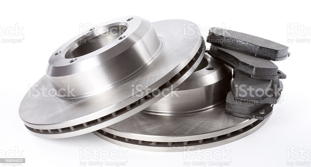 Brake Discs and Pads stock photo