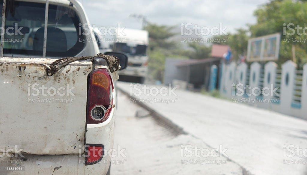 Brake lights car royalty-free stock photo