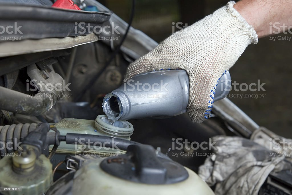 Brake liquid stock photo