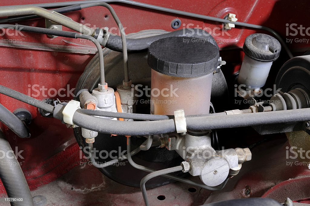 Brake master cylinder royalty-free stock photo