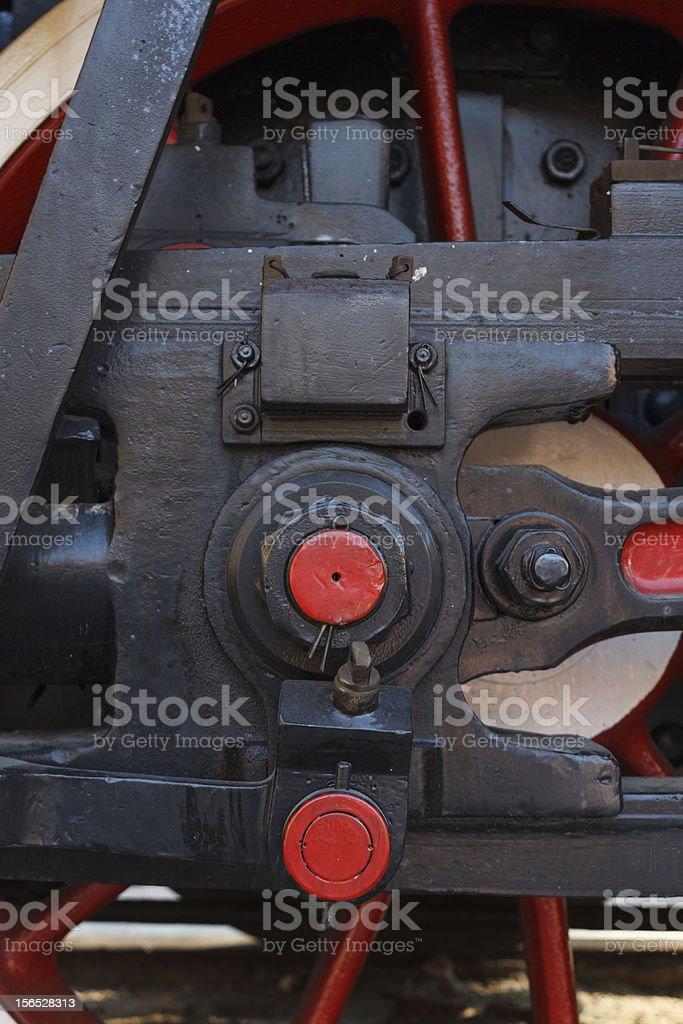 Brake on old steam locomotive royalty-free stock photo