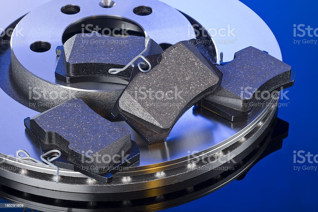Brake Pads and Disc stock photo