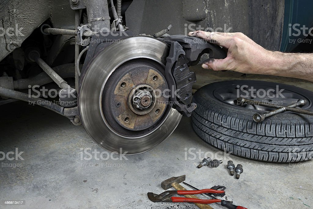 brake pads four royalty-free stock photo