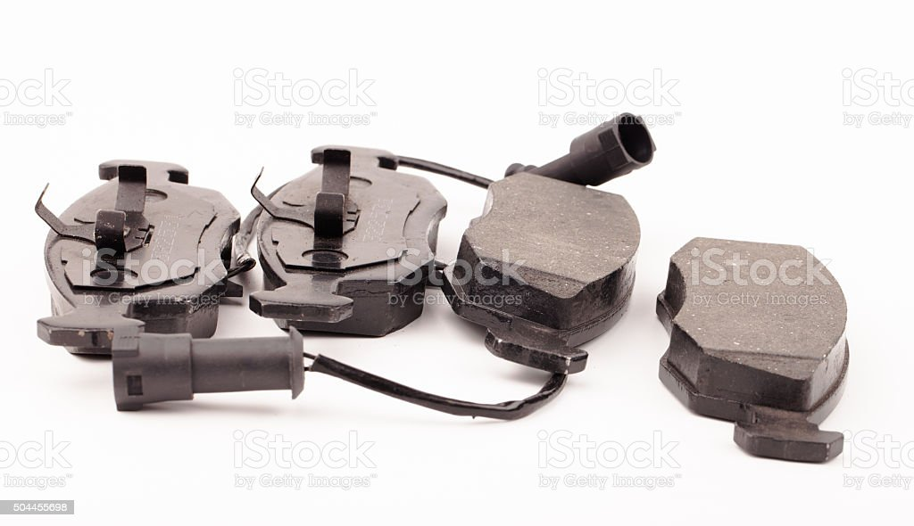 brake pads isolated on white stock photo