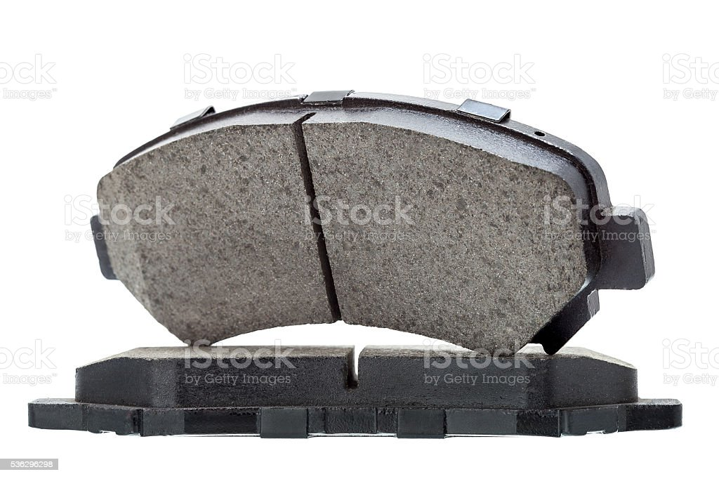 Brake pads isolated. stock photo