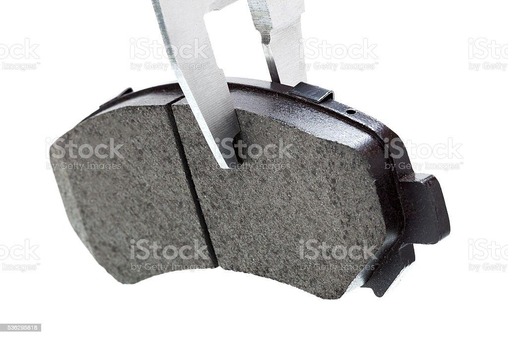 brake pads withe caliper. stock photo