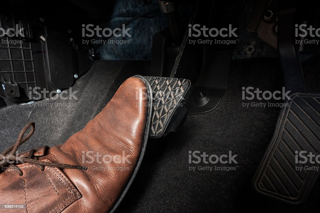 brake pedal stock photo